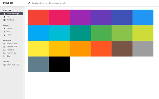 Tint UI's Material Design