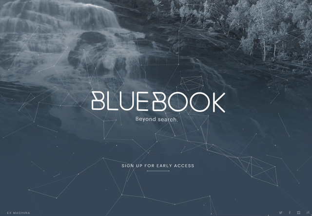 Coming soon page of BlueBook
