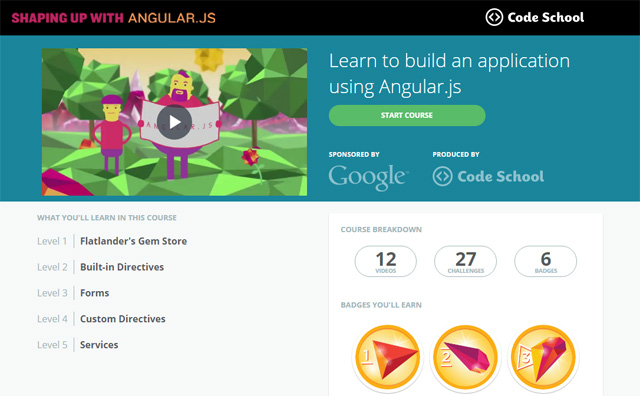 Shaping up with Angular.js