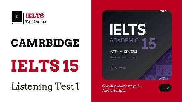 Cambridge English IELTS 15 Listening Test 01