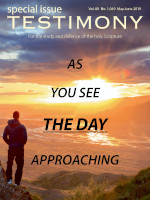 Cover of the special issue entitled As you see the Day approaching