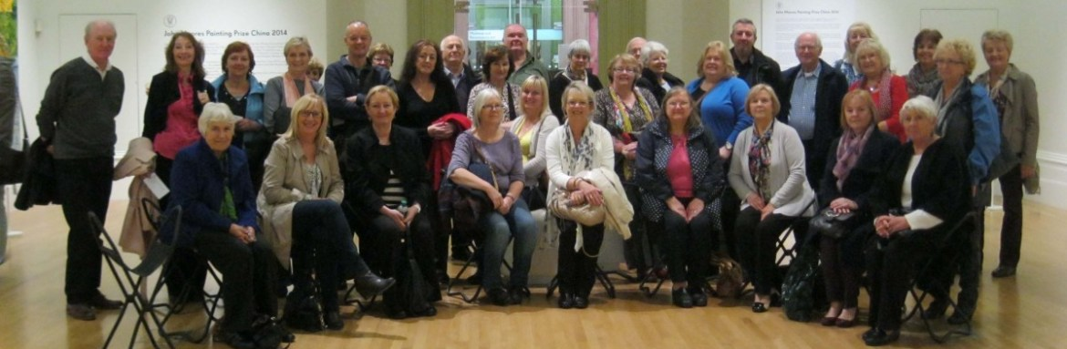 art classes, merseyside, members on a visit to the walker art gallery, liverpool