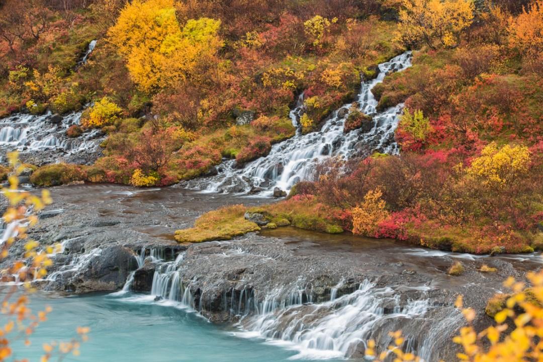 Autumn-Hraunfossar-waterfall-Husafell-Iceland