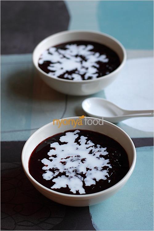 Bubur Pulut Hitam : bubur, pulut, hitam, Black, Sticky, Dessert, Moy/Bubur, Pulut, Hitam), Malaysia