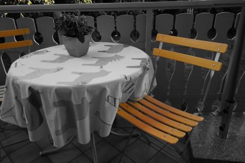 Auf dem Balkon mit dem Gelb-Filter