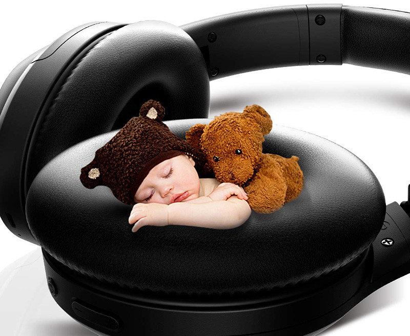 Auriculares inalámbricos Bluetooth, iTeknic Auriculares Bluetooth Reducción activa de ruido ANC Super Ear Auriculares estéreo