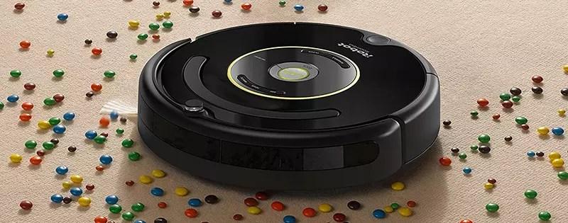 Aspirador robot iRobot Roomba 650, potente sistema de limpieza con detección de suciedad