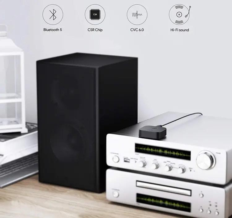 Prueba de AUKEY Receptor Bluetooth 5 Adaptador de audio inalámbrico