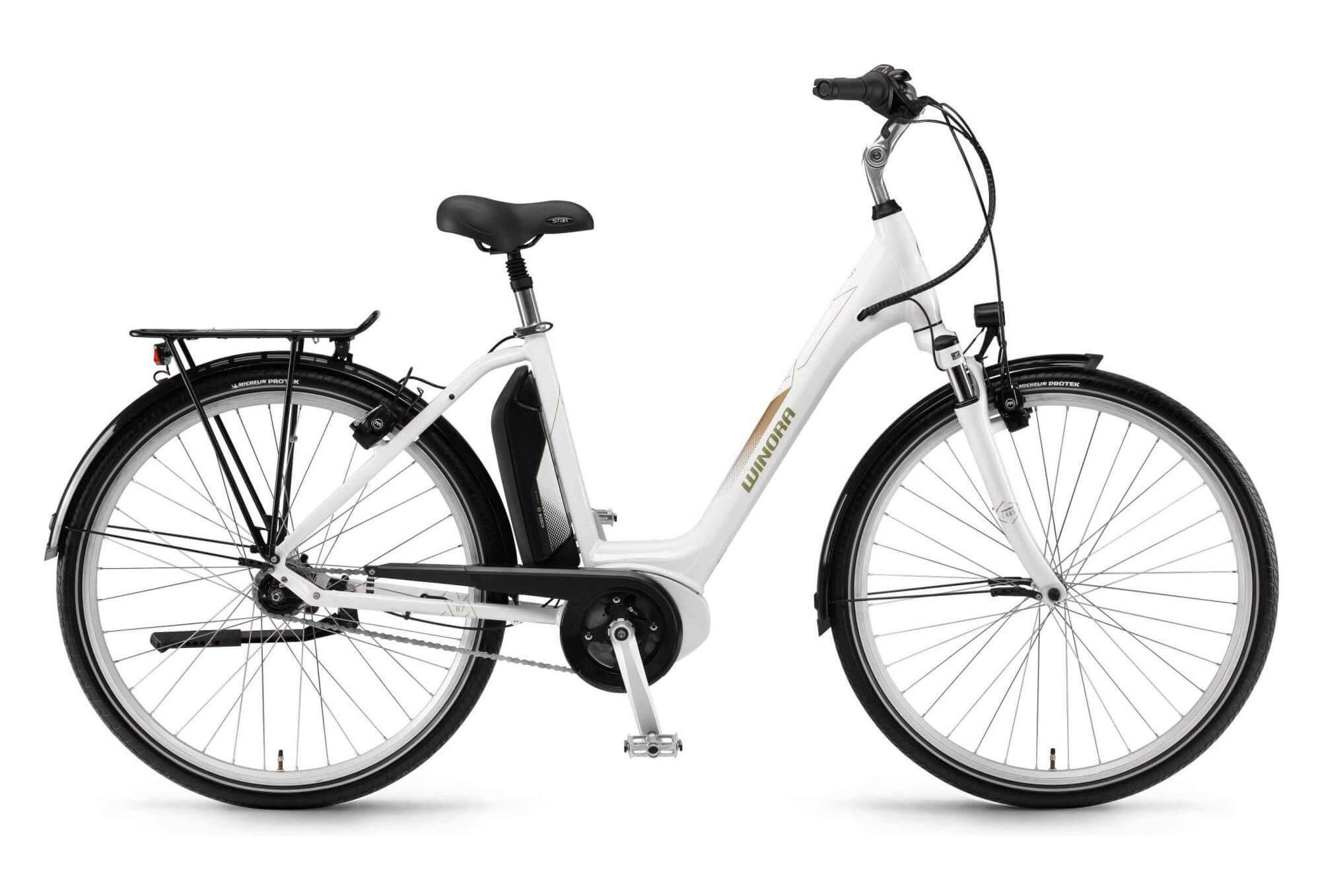 vélo de ville électrique femme