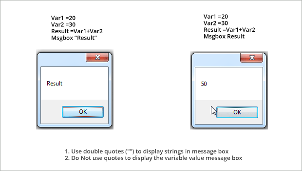 Message-box-strings in UFT QTP
