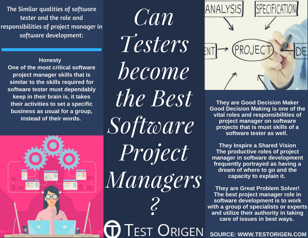 Project Manager Duties Responsibilities Can Testers Become The Best Software Project Managers Testorigen