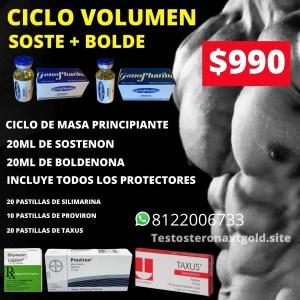 Ciclo de Volumen Sostenon y Boldenona con Protectores