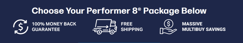 Performer 8 Offers Free Express Shipping Worldwide!