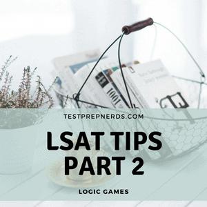 LSAT logic games tips