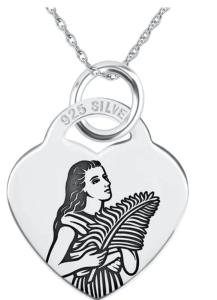saint agatha patron saint of nurses necklace