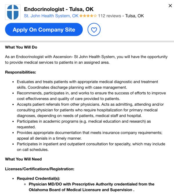 endocrinologist job description