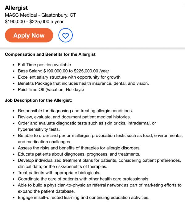 immunologist job description