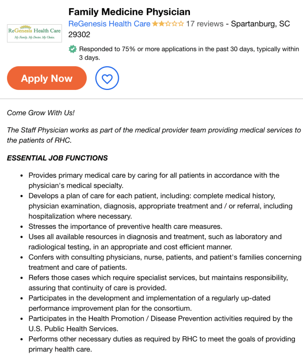 family physician job description