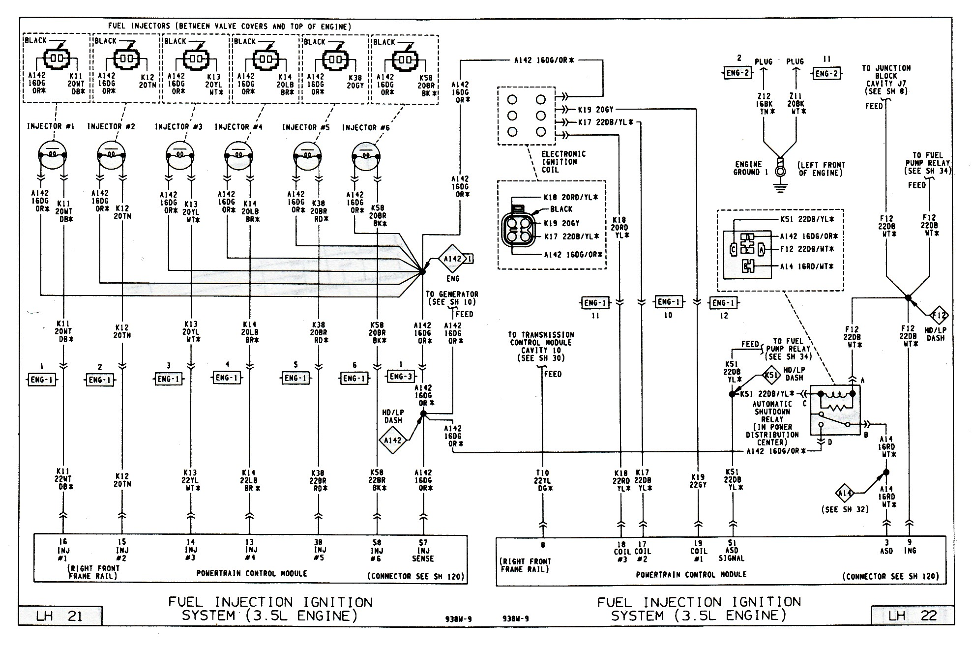 The wiring diagram is from a vehicle with a misfire