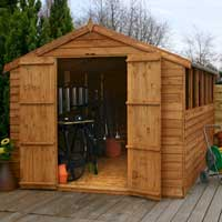 wooden shed