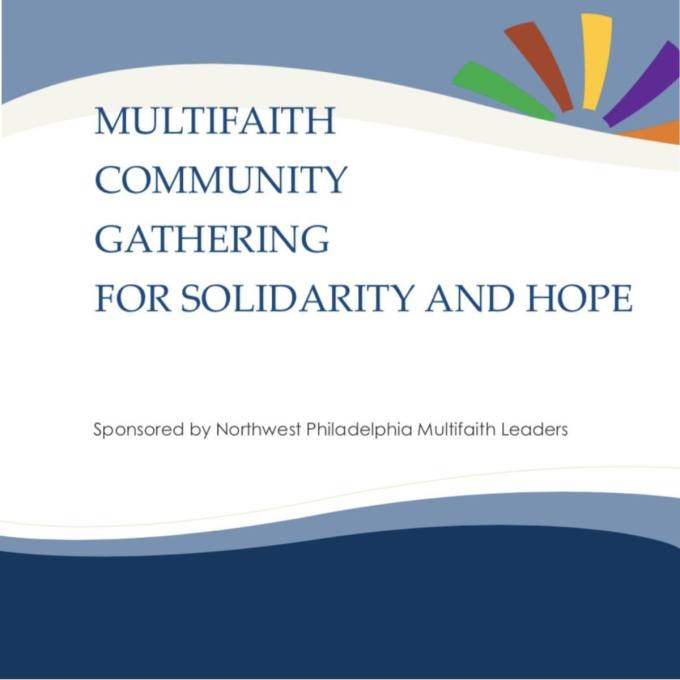 Multifaith Community Gathering for Solidarity and Hope sponsored by NW Multi-faith Leaders