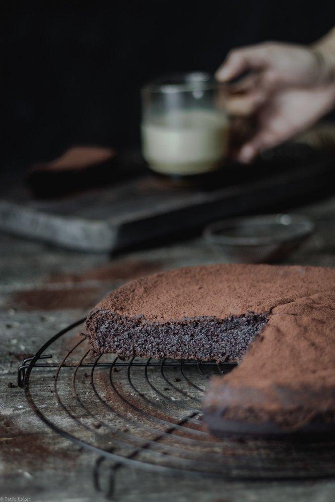 κέικ κακάο χωρίς αλεύρι