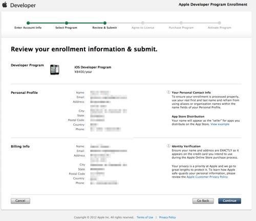 Apple Developer Program Enrollment  Review Enrollment Information moza