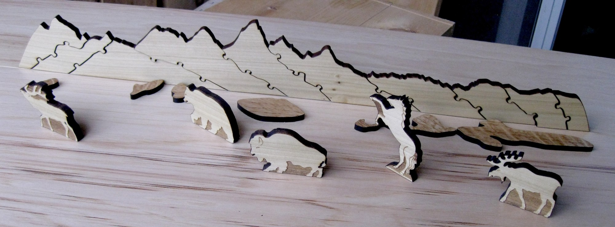 hight resolution of the teton puzzle playset