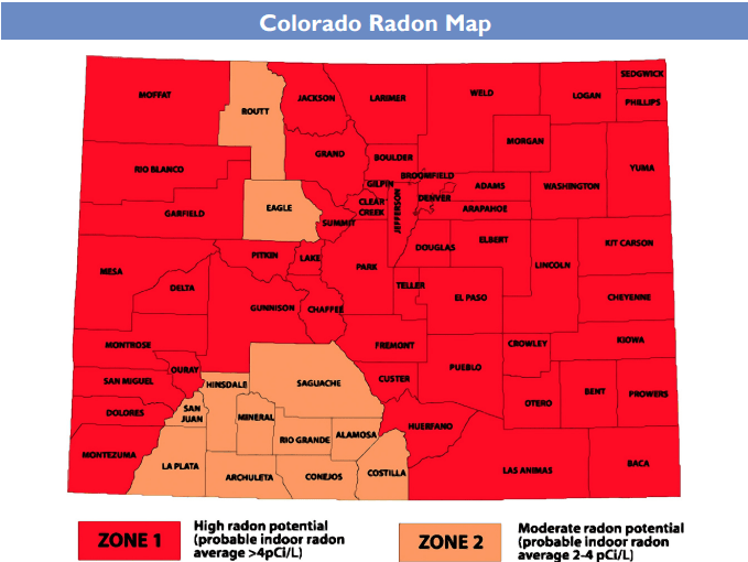 Radon Map of Colorado