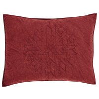 Standard Pillow Sham Pattern. Cheyenne American Red