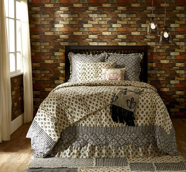 Elysee Fleur-de-lis Quilt Collection - Teton Timberline