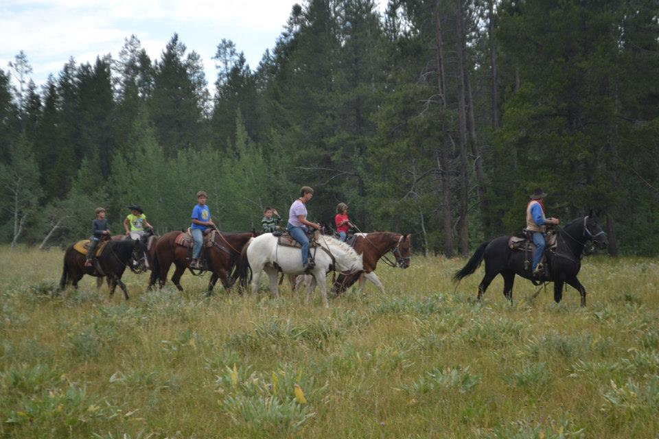 Horseback riding happens throughout the wagon train vacation.