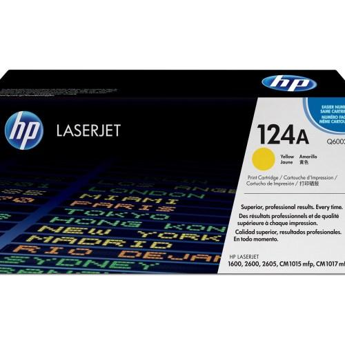 HP 124A Yellow Toner Cartridge (Q6002A)