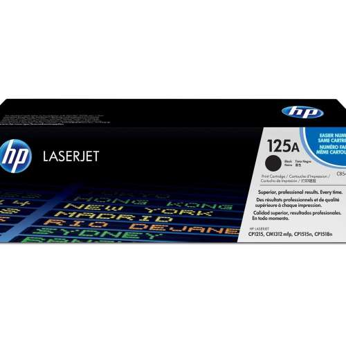 HP 125A Black Toner Cartridge CB540A
