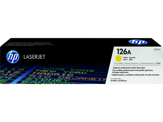 HP 126A Yellow Toner Cartridge CE312A