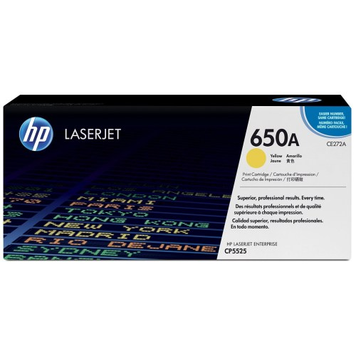 HP 650A Yellow toner Cartridge CE272A in Kenya