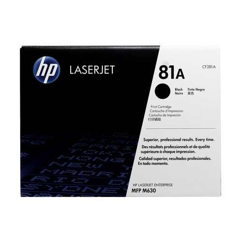 HP 81A Black Toner Cartridge