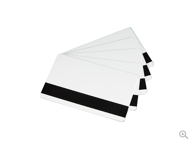 Magnetic Stripe white PVC Cards