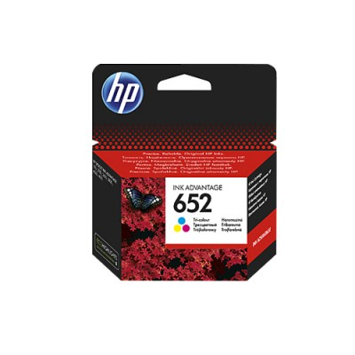 HP 652 Tri-color Ink Advantage Cartridge