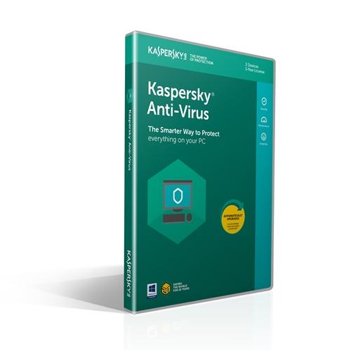 Kaspersky Antivirus 2019 3 User