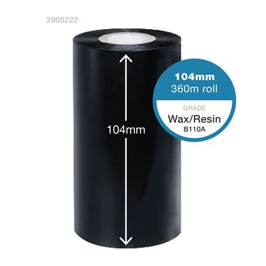 Ribbon width: 104mm Ribbon length: 360 metres
