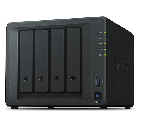 Synology DS418 DiskStation 4 Bay Barebone