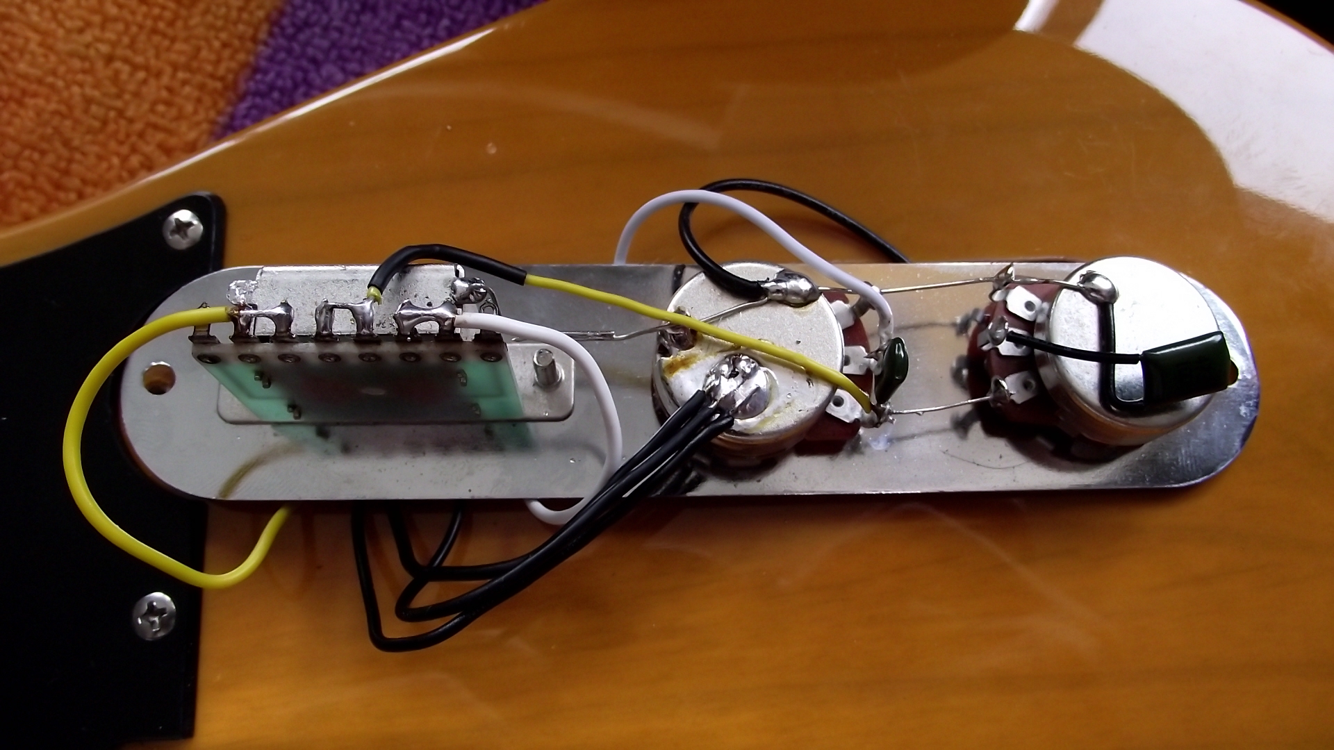 3 way switch diagram wiring ididit steering column two squier telecasters. repair/clean up. | tetsuo electronics.