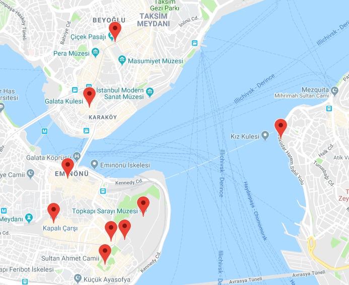Mapa Estambul 2