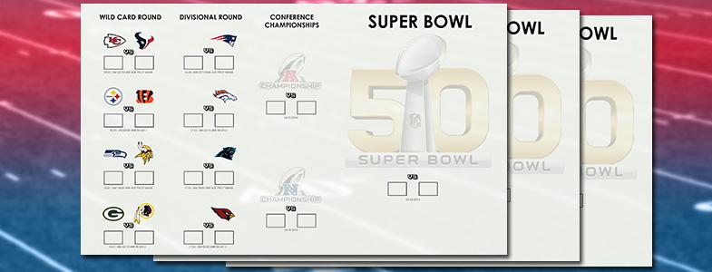 NFL Playoffs 2016 | Super Bowl 50 | Spielplanvorschaubild | Football