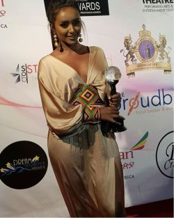 Ethiopian actress Fryat Yemane receives HAPA film award in California