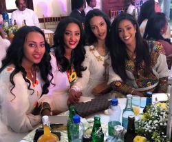 Celebrities pose for photos at Mekdes Tsegaye and Solomon Menjeta wedding in Addis Ababa