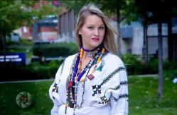 American girl showcasing Ethiopian traditional dress