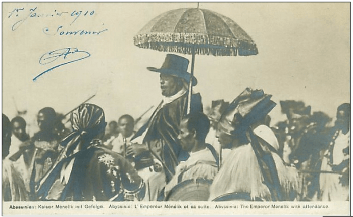A rare photo of Ethiopia's Emperor Menelik II