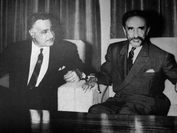 Ethiopia's Haileselassie and Egypt's Nasser – May 23, 1963, in Khartoum, Sudan